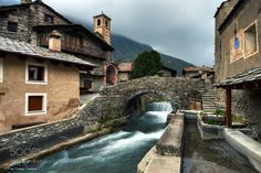 Chianale - The stone bridge -