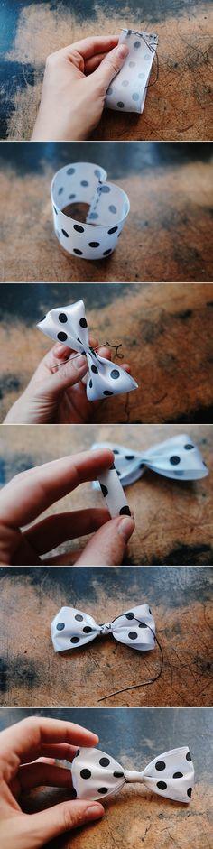 DIY: ribbon bow (3 ways)