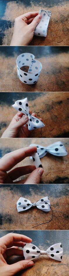 DIY: ribbon bow (3 ways)  Love ribbons.....a ribbon in the sky..............................:)
