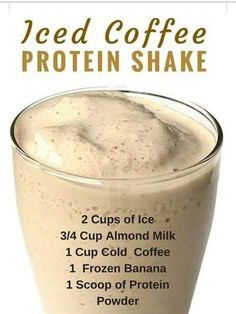 These recipe! It is super filling (holds over until lunch), low in calories, high in protein, and the perfect morning drink and weight loss! (about 115 calories ) healthy drinks Iced Coffee Protein Shake Recipe Smoothie Drinks, Healthy Smoothies, Healthy Drinks, Healthy Eating, Healthy Recipes, Clean Eating, Smoothie Diet, Healthy Coffee Smoothie, Paleo Smoothie Recipes