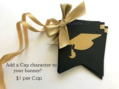Our Class of 2017 banner is everything youll need for your upcoming graduation party! This banner is made with high quality cardstock and finished with luxurious gold ribbon and gold glitter letters. You can personalize the colors and wording by leaving a note at checkout. To view