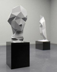 gif art Museum glitch greek hera low poly dionysus hateplow