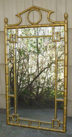 vintage bamboo mirror Bamboo Mirror, Japanese Artwork, Bamboo Furniture, Faux Bamboo, Hollywood Regency, Creative Home, Art Decor, Home Decor, Decorative Items