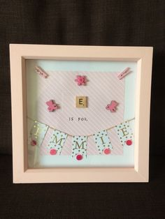 Scrabble von Littlebowchicgifts Source by Scrabble Crafts, Scrabble Art, Scrabble Letters, Diy Xmas Gifts, Handmade Gifts, Personalized Photo Frames, Baby Frame, Crafts With Pictures, Shadow Box Frames