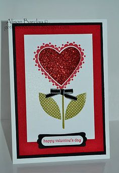 Valentine's Day card using Sweetheart stamp set.