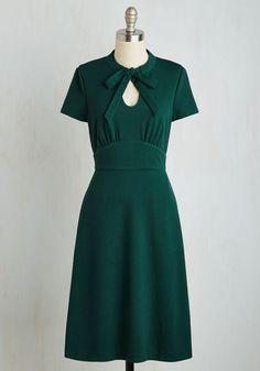 1940s Archival Revival Dress in Pine $89.99 AT vintagedancer.com