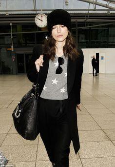 Grey and black comfy, casual look