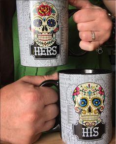 Sugar Skull Couple mugs - My Sugar Skulls