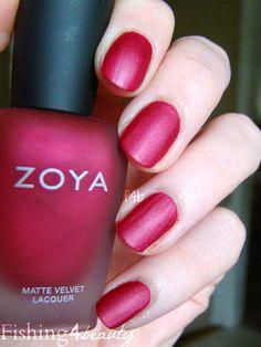 Fishing4Beauty: Zoya Matte Velvet Re-release @zoyanailpolish Posh