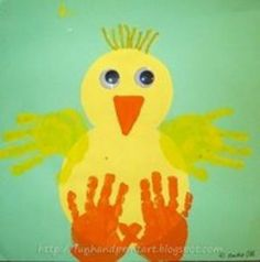 "Easy chick craft for pre k or preschool Could use to reinforce shapes and ""ch"" sound"