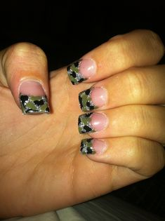 Country Girl Nails!!!! Camo!! My Style!!!