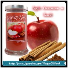Apple cinnamon is back for the new fall lineup. Get in the spirit of fall with this great candle. Order now at http://www.lgcandles.com/MeganGilliand