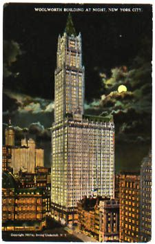 Woolworth Building  Height: 792 feet (241 meters)  Original owners: Frank W. Woolworth and the Irving Trust Company  Architect: Cass Gilbert  Engineer: Gunvald Aus Company  Constructed 1910, opened April 24, 1913