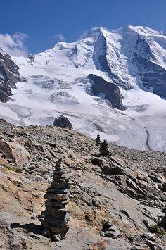 Piz Palue. View from Diavolezza. Graubünden. Switzerland