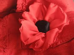 In honor of our brave lost, I am reposting this sentiment and a link to a remembrance poppy tutorial. A Poppy for Remembrance In Flanders. Faux Flowers, Diy Flowers, Fabric Flowers, Paper Flowers, Remembrance Day Art, Poppy Craft, Remember Day, Flower Hair Bows, Make Do And Mend