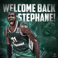 "576a208ec16 Panathinaikos BC on Instagram  ""The  gabonbeast is Back!  paobc   panathinaikos . . . . .  paobcgr  pao  panathinaikosbc  stephanelasme   gabonbeast  stephane ..."