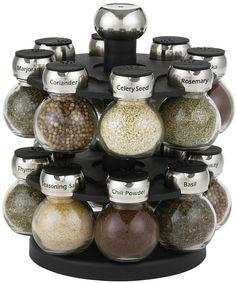 Martha Stewart Collection 16-Piece Orbital Spice Rack Set