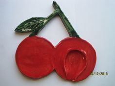 cherry spoon rest on Etsy, $14.00