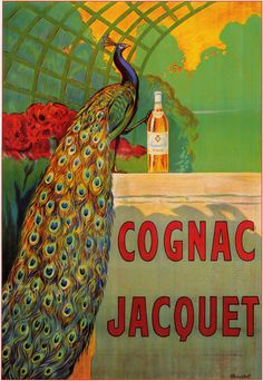 Vintage French cognac poster