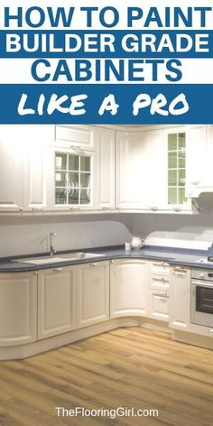 to paint cabinets the RIGHT way How to paint builder grade cabinets like a pro. How to paint builder grade cabinets like a pro. Painting Kitchen Cabinets White, Wood Kitchen Cabinets, Built In Cabinets, Kitchen Paint, Painting Cabinets, Kitchen Furniture, How To Refinish Kitchen Cabinets, Updated Kitchen, New Kitchen