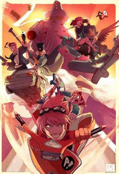 And I finally finish this piece that& bee driving me crazy for a millennium. I finally feel I was able to capture an ounce of the energy contained in my favorite anime, FLCL. Forever Encased in Steam on Storenvy ♦ Queen Riot on Storenvy Anime Nerd, Anime Manga, I Love Anime, Me Me Me Anime, Furi Kuri, Otaku, Art Puns, Neon Genesis Evangelion, Anime Artwork
