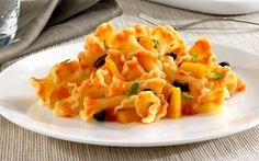 Barilla® Campanelle with Three Cheese Sauce, Roasted Yellow Peppers ...