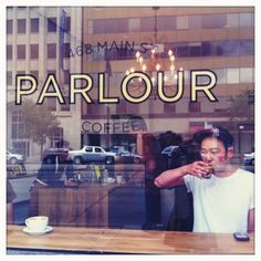 Parlour Coffee Shop, Winnipeg, Canada. the inside of this place is stunning.