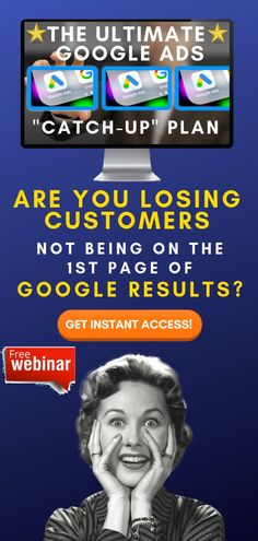 """Running Your Own Business Comes With A Lot Of Challenges...  Advertising Doesn't Need To Be One Of Them.  What If You Could Create Ad Campaigns That Actually Work?  [FREE] Training: The Ultimate Google Ads """"Catch Up"""" Plan  Get Instant Access Now!  #googleads #adwords #leadgeneration #businessgrowth  #sellonline #onlinebusiness #onlinemarketing What Is A Podcast, Thank You Email, Local Seo Services, Google Ads, Instant Access, Ad Campaigns, Free Training, Lead Generation, How To Know"""