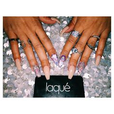 If you see me and I don't have crystals on my nails that's not me b! Thank you @laquenailbar