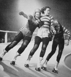 1950's Roller Derby Girls.