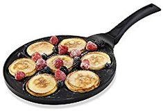 Gourmia Blini Pan With Induction Bottom Nonstick Silver Dollar Pancake M for sale online Dutch Pancakes, Mini Pancakes, Tasty Pancakes, Pancakes And Waffles, Pancake Pan, Pancake Maker, Crepes, Gotham, Best Pizza Stone