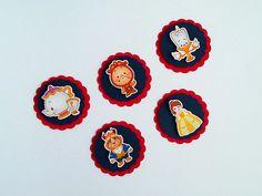 Tags com os personagens principais para decoração da festinha A Bela e A Fera cute. Ideal para aplicação em latinhas mint to be, tubetes, caixinhas, convites, forminhas para cupcake, garrafinhas, etc.
