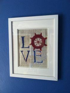 Nautical Nursery Decor , Nautical Decor, LOVE on Etsy, $12.00 (nautical nursery)