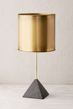 Stone Pyramid Table Lamp