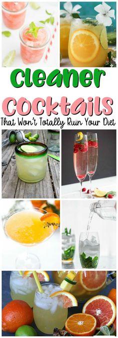25 Cleaner Cocktails That Won't Totally Ruin Your Diet – Nefis Yemek Tarifleri – Tatlılar – Pastalar – Izgara – Buğulama Low Carb Cocktails, Rum Cocktails, Beste Cocktails, Healthy Cocktails, Cocktail Drinks, Cocktail Recipes, Skinny Alcoholic Drinks, Popular Cocktails, Vodka Martini