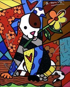 Romero Britto on Paris Art Web Graffiti Art, Paris Kunst, Paris Art, Art Web, Arte Pop, Art Plastique, Dog Art, Online Art Gallery, Art Lessons