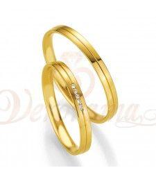 Βέρες γάμου χρυσές με διαμάντι breuning 4327-4328