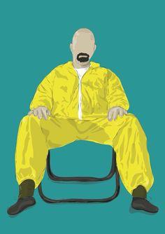 "Heisenberg ""Breaking Bad"" Digital illustration (Follow me on FB: RM Graphic Design)"