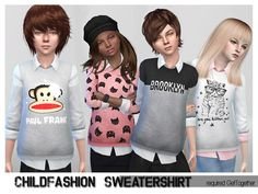 ShojoAngel's ChildFashionSet SweaterShirt