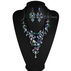 Blue+Crystal+Gem+Starburst+Necklace+&+Earring+Statement+Set+NO.+1000   Item+Type:+Jewelry+Sets  Style:+Trendy  Material:+Acrylic  Necklace+Type:+Pendant+Necklaces  Metal+Type:+Zinc+Alloy  Chain+Type:+Rope+Chain  Length:+Necklace:+47cm+Earrings:+7cm  Gender:+Women