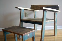 I love this reclaimed oak mid century modern inspired chair  amelia by timsway,