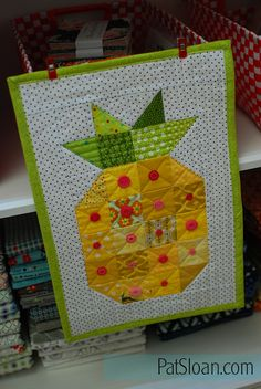 Pat sloan pineapple with buttons 2