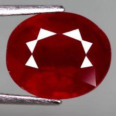 5.37 Ct. Interesting! Natural Ruby Oval Facet Top Blood Red Madagascar #Gemnatural