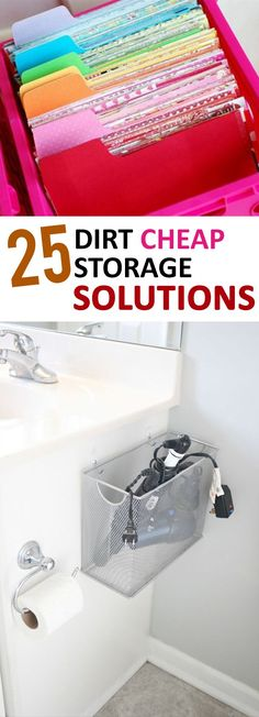 storage solutions, cheap storage ideas, DIY storage, DIY hacks, frugal organization, popular pin, organization hacks, storage ideas.
