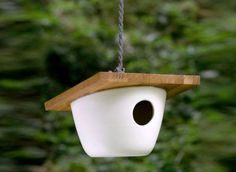 Somehow it seems this could be a DIY project ... Ceramic Birdhouse  $96