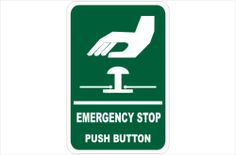 Emergency Stop Sign Kitchen Signs, Food Safety, Warning Signs, Food Security