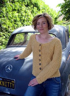 knitty.com -- Sonnet -- knitty sideways knit cardigan -- one of my favorite, and most adaptable, knitted cardigan patterns -- more of a recipe than a pattern, very adaptable to any yarn and size.
