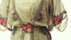 Gorgeous ribbonwork on an Edwardian dress.