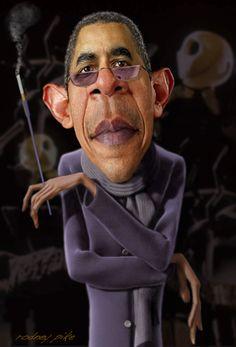 barack Obama [Rodney Pike Humorous Illustrator: The Nightmare Before Congress] Funny Caricatures, Celebrity Caricatures, Cartoon Faces, Funny Faces, Barack Obama, Humor, Caricature Drawing, Black Cartoon, Black Celebrities