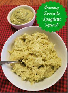 Creamy Avocado Spaghetti Squash